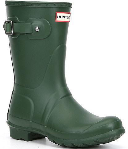 Hunter Women's Original Short Matte Buckle Strap Rain Boots