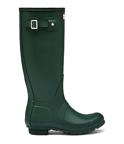 Hunter Women's Original Tall Matte Buckle Strap Rain Boots