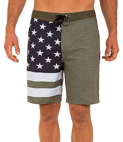 Hurley Americana Phantom Patriot 18#double; Outseam Board Shorts