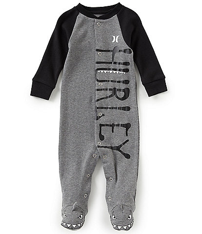 Hurley Baby Boys Newborn-9 Months Long-Sleeve Creature Footed Coverall