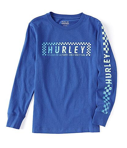 Hurley Big Boys 8-20 Long-Sleeve Breakwater Graphic T-Shirt