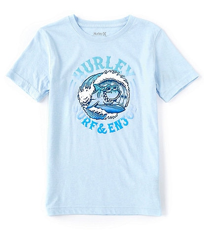 Hurley Big Boys 8-20 Short-Sleeve Shark Barrel Graphic Tee