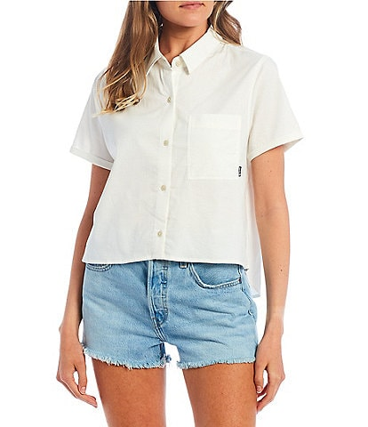 Hurley Button-Front Chambray High-Low Hem Shirt
