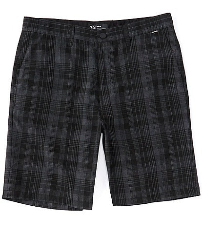 Hurley Granada Plaid 22#double; Outseam Walkshorts
