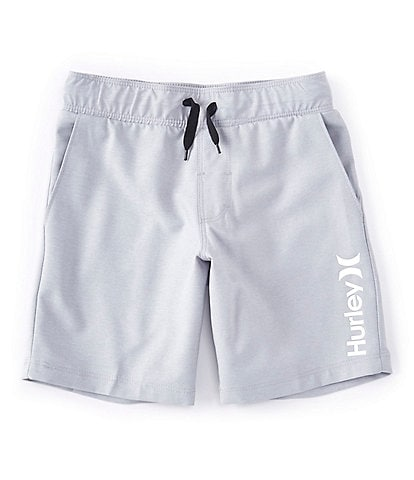 Hurley Little Boys 2T-7 Heathered Hybrid Pull-On Shorts