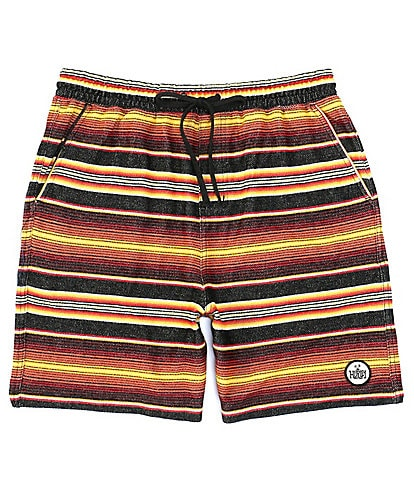 Hurley Modern Surf Multi Striped 19#double; Outseam Pancho French Terry Shorts