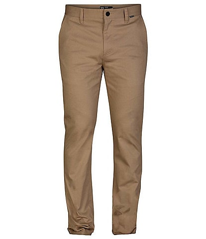 Hurley One & Only Stretch Regular Fit Flat-Front Chino Pants
