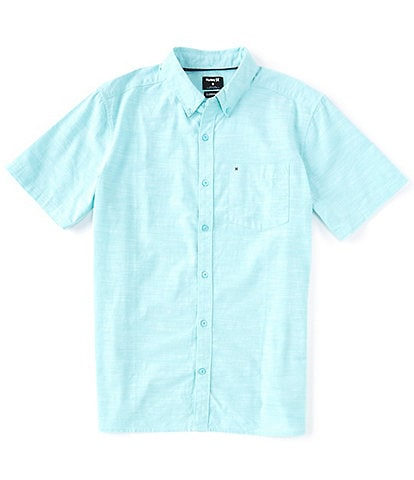 Hurley Solid Short-Sleeve One & Only 2.0 Classic-Fit Woven Shirt