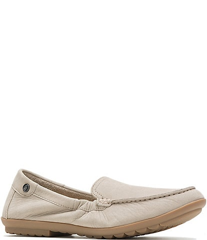 Hush Puppies Aidi Nubuck Leather Mocc Slip-Ons