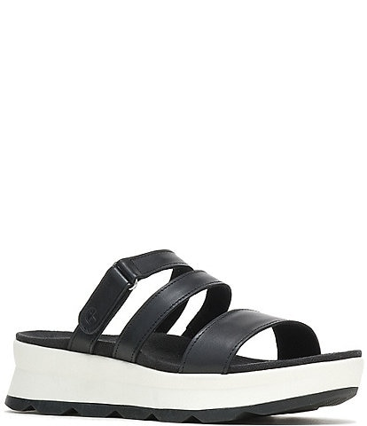 Hush Puppies Andi Leather Platform Slides