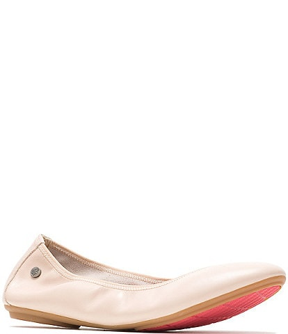 Hush Puppies Chaste Leather Ballet Slip Ons