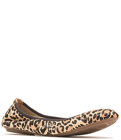 Hush Puppies Chaste Leopard Print Calf Hair Ballet Slip Ons