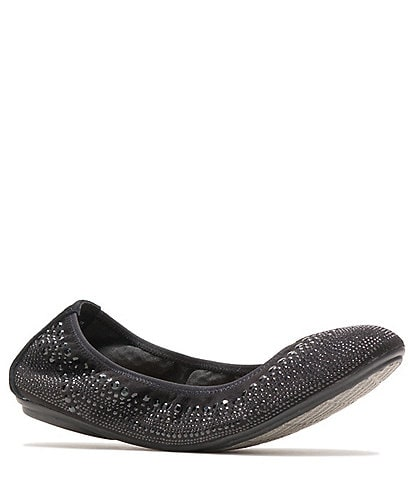 Hush Puppies Chaste Studded Leather Ballet Slip Ons