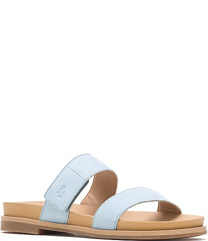 Hush Puppies Lilly 2 Band Nubuck Leather Slide Sandals