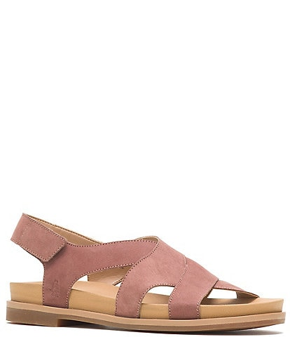 Hush Puppies Lilly Nubuck Leather Criss Cross Sandals