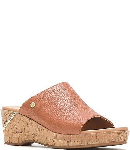 Hush Puppies Maya Slide Cork Wedge Sandals