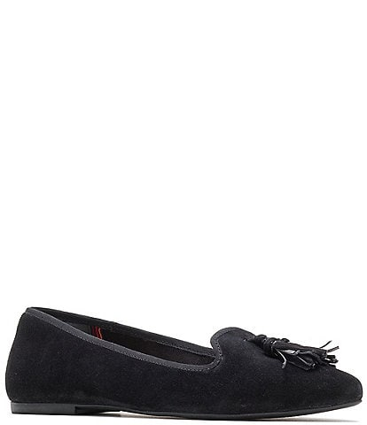 Hush Puppies Sadie Tassel Suede Slip On Ballerina Flats
