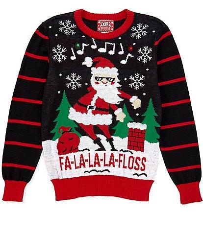 Hybrid Long-Sleeve Fa La La Flossing Dance Styling Christmas Sweater