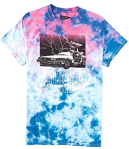 Hybrid Tees Back To The Future Delorean Tie Dye Graphic T-Shirt