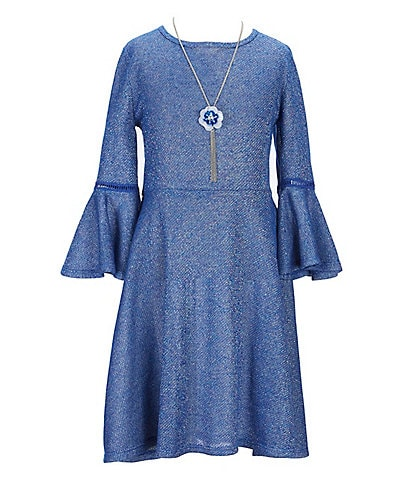 I.N. Girl Big Girls 7-16 Bell-Sleeve Fit-And-Flare Dress