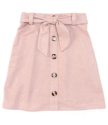 I.N. Girl Big Girls 7-16 Button-Front Skirt