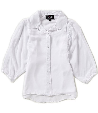 I.N. Girl Big Girls 7-16 Chiffon Button-Down Top