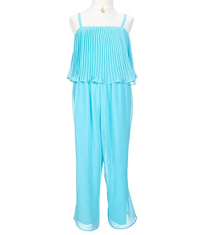 I.N. Girl Big Girls 7-16 Pleated Popover Jumpsuit
