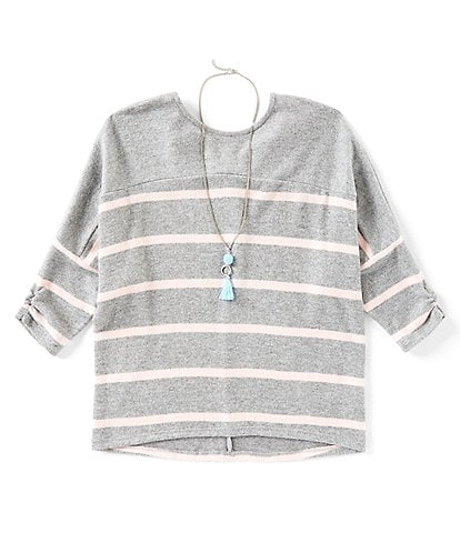 I.N. Girl Big Girls 7-16 Stripe Dolman Twist-Back Top