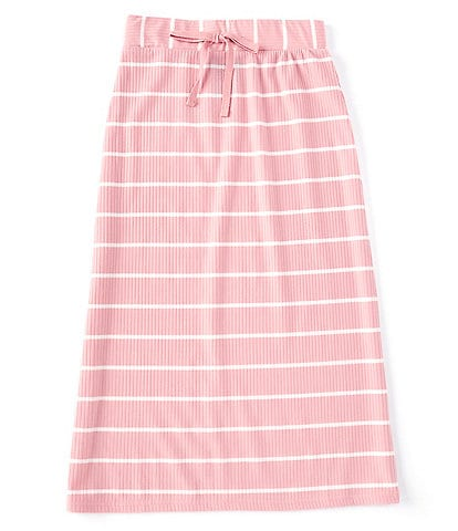 I.N. Girl Big Girls 7-16 Striped Midi A-Line Skirt