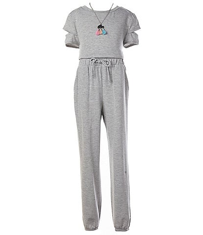 I.N. Girl Big Girls 7-16 Tie-Waist Jumpsuit