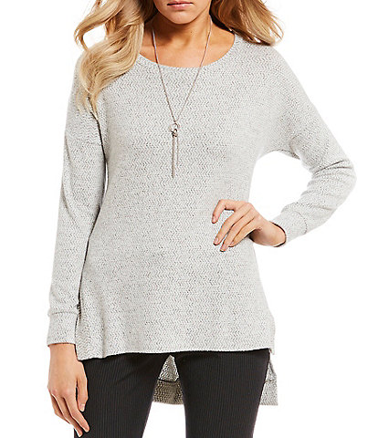 I.N. San Francisco Fuzzy Sweater-Knit Tunic Top