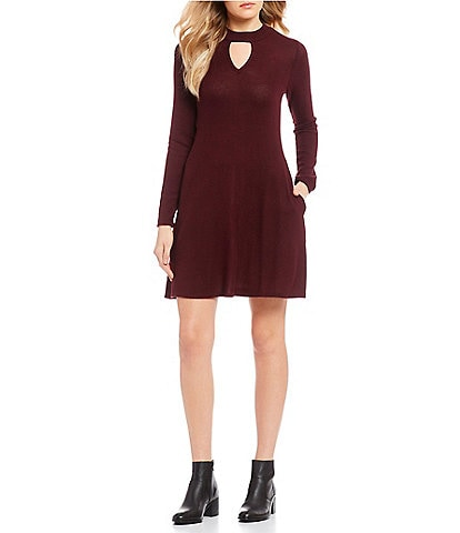 I.N. San Francisco Keyhole Neckline Sweater Dress