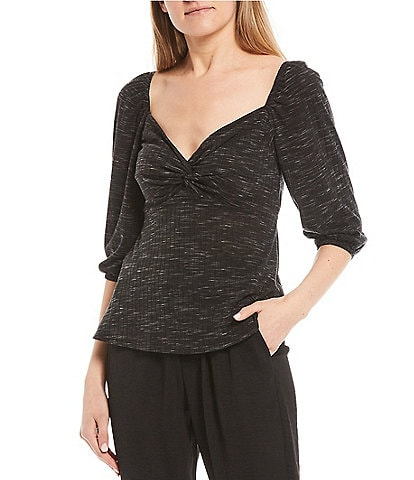 I.N. San Francisco Spacedyed Knot Bust Top