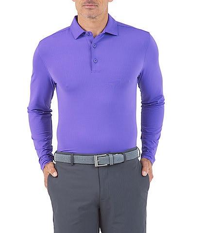 IBKUL Long-Sleeve Ice Fil® Polo Shirt