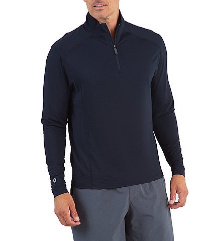 IBKUL Long-Sleeve UPF Mockneck Pullover