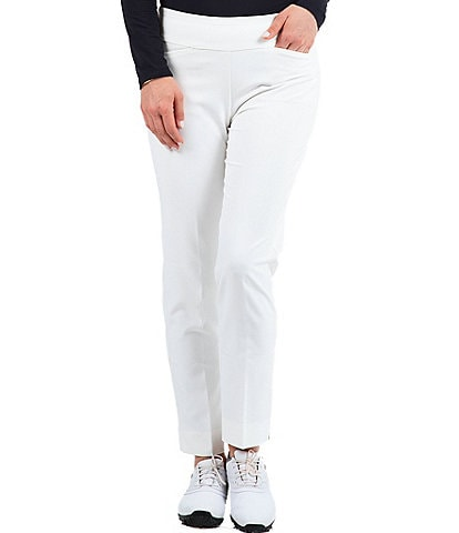 IBKUL 4 Way Stretch Lightweight Tummy Control Pull-On Ankle Pants