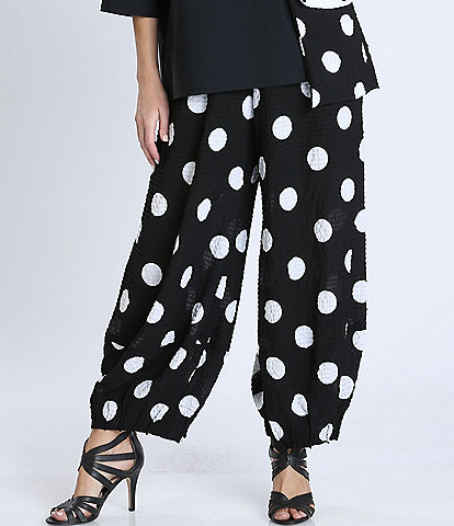 IC Collection Bottom Dart Detail Baggy Polka Dot Pants