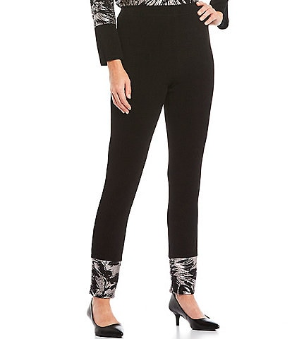 IC Collection Disco Knit Shimmer Contrast Legging