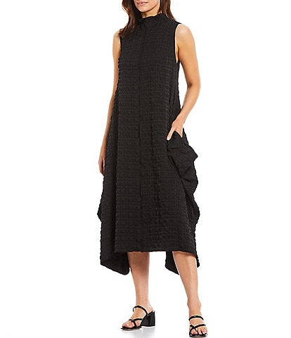 IC Collection High Neck Woven Sleeveless Dress