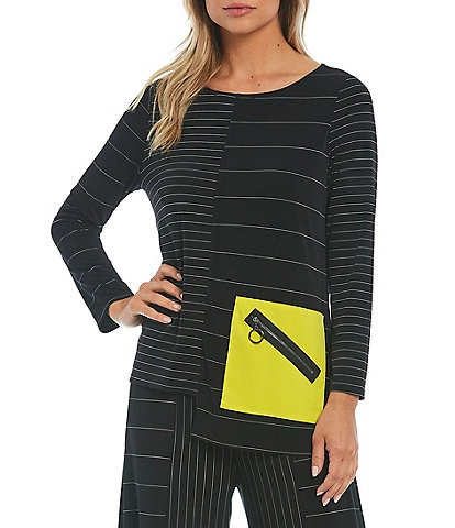 IC Collection Multi Directional Pin Stripe Tunic