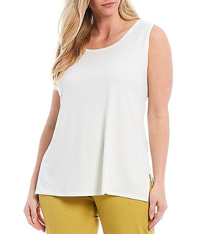 IC Collection Plus Size Scoop Neck Basic Tank
