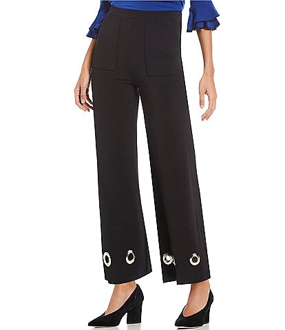 IC Collection Wide Leg Grommet Pants