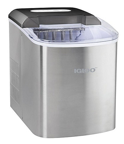 Igloo 26-Pound Automatic Portable Countertop Ice Maker Machine - Stainless Steel