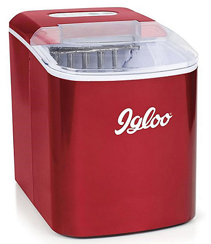 Igloo Red Retro 26-Pound Automatic Portable Countertop Ice Maker