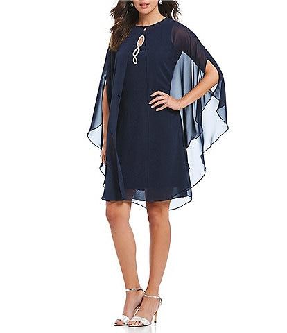 Ignite Evenings Beaded Capelet Dress