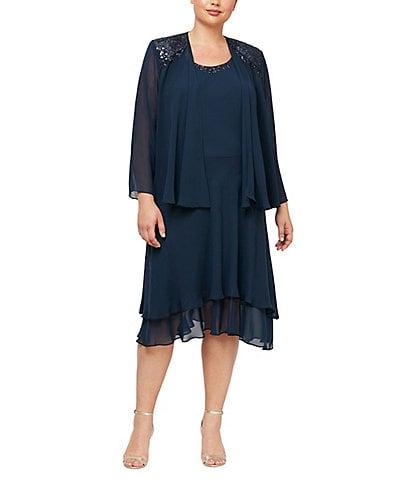 Plus-Size Jacket Dresses | Dillard\'s