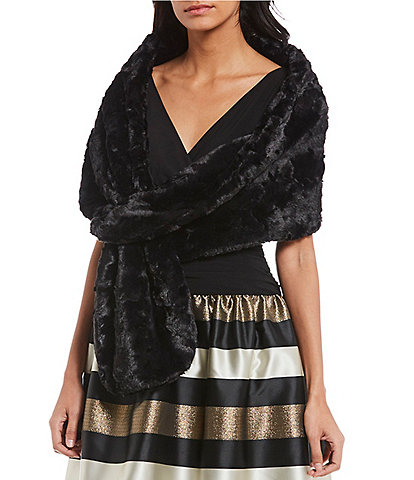 Ignite Evenings Pull Through Faux Fur Wrap