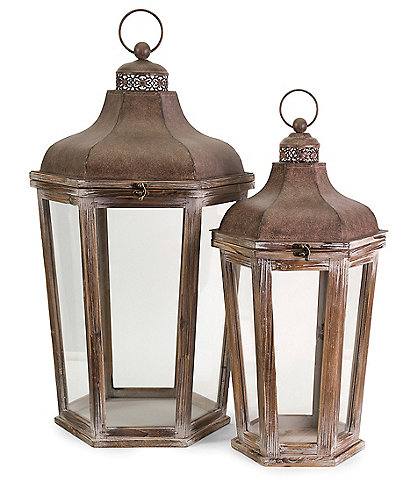 Imax Layla Lanterns Set of 2
