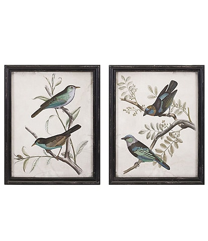 Imax Vintage Farmhouse Maisly Bird Wall Decor Set of 2