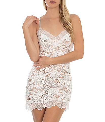 In Bloom by Jonquil Allover Lace Sleeveless Chemise